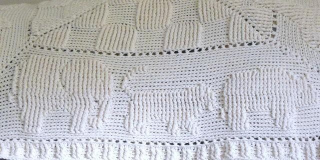 ANIMAL CRACKERS HANDMADE CROCHET BABY AFGHAN IN OF