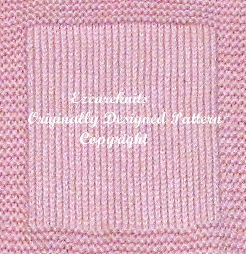 Copyright On Knitting Patterns : Baby Blanket Knitting Pattern - PDF - Free ezcareknits