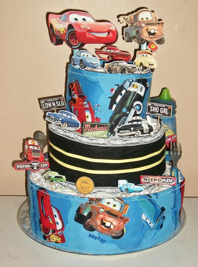 Classic Car Themed Tier Diaper Cake By Readymadediapercakes On