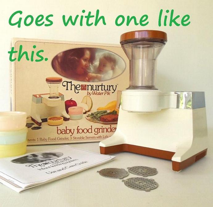 Water Pik Nurtury Electric Baby Food Grinder Replacement Part GI - Drive Gear