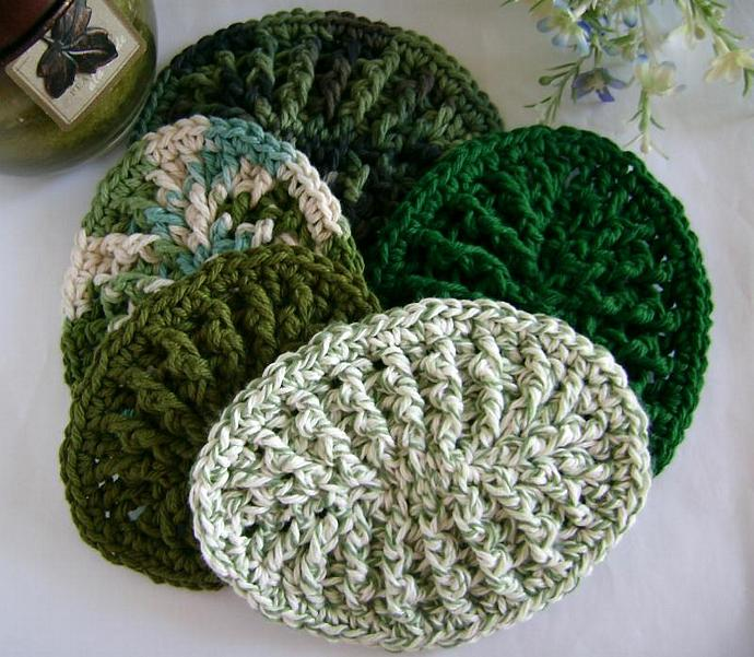 Custom Crochet Original Soap Dish, TWO Soap Dish Order  in GREENS