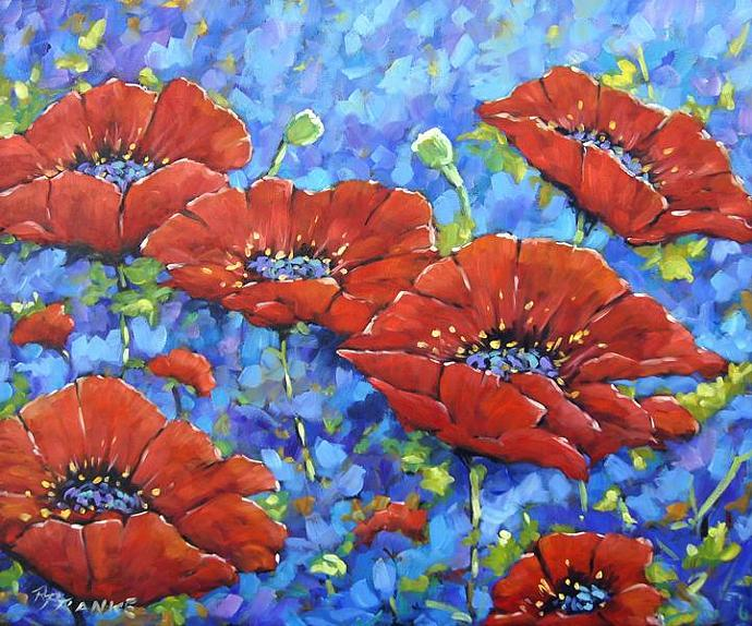 Royal Poppies large original painting oil paintings created by Prankearts No
