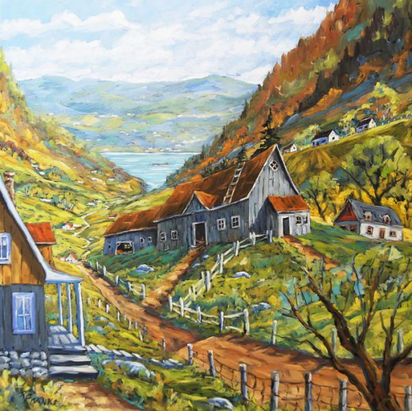 Charlevoix Valley Large original oil painting created by Prankearts No Cost