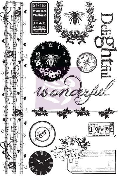 SALE! NEW! Prima Lyric Cling Mount Rubber Stamps