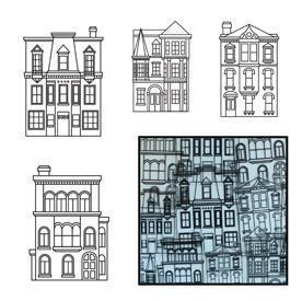 SALE! NEW! Maya Road Our Town Transparencies in Black