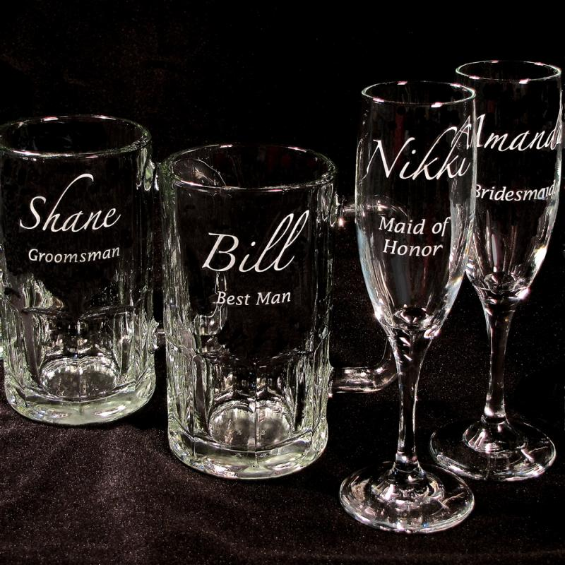 4 Wedding Party Gifts Personalized Beer by bradgoodell on Zibbet