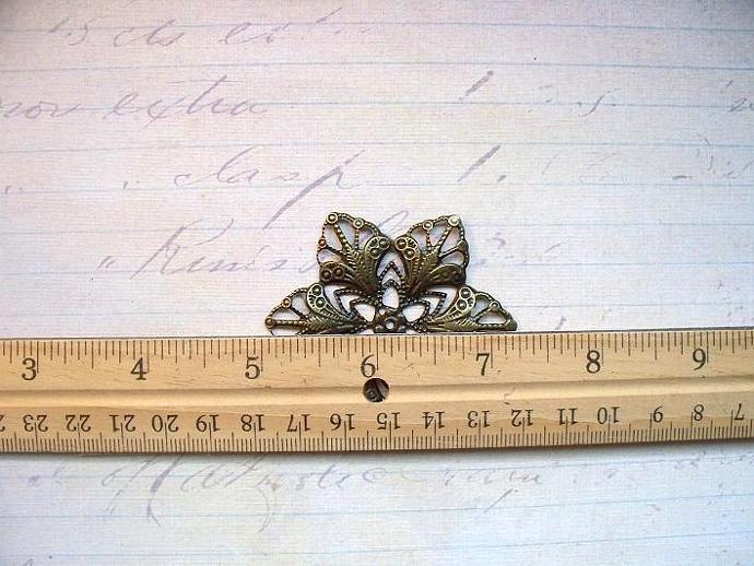 6pcs. 57mm Filigree Flower Antique Bronze (FRB-04)
