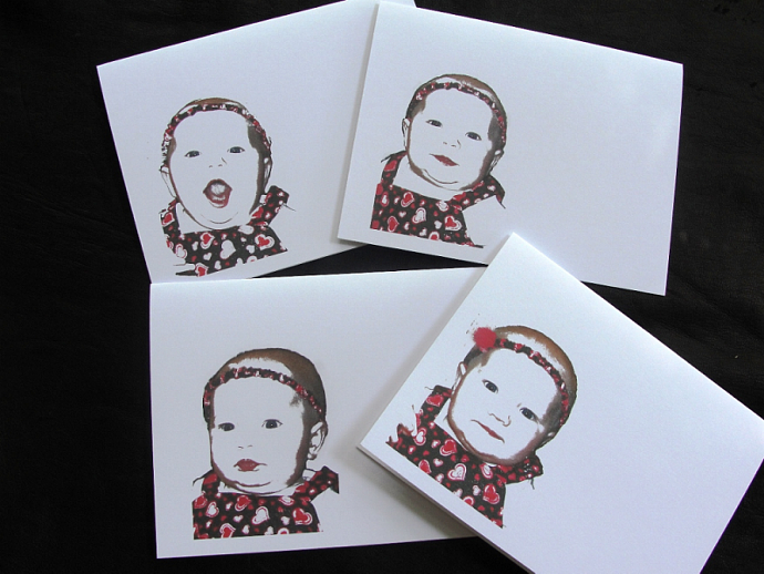 Sweet Cheeks Note Card Set