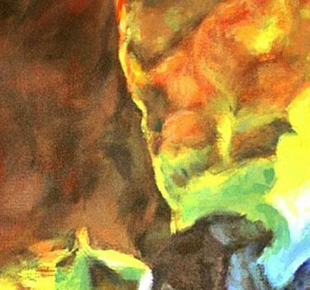 The Lagoon Nebula  (A Space Landscape)