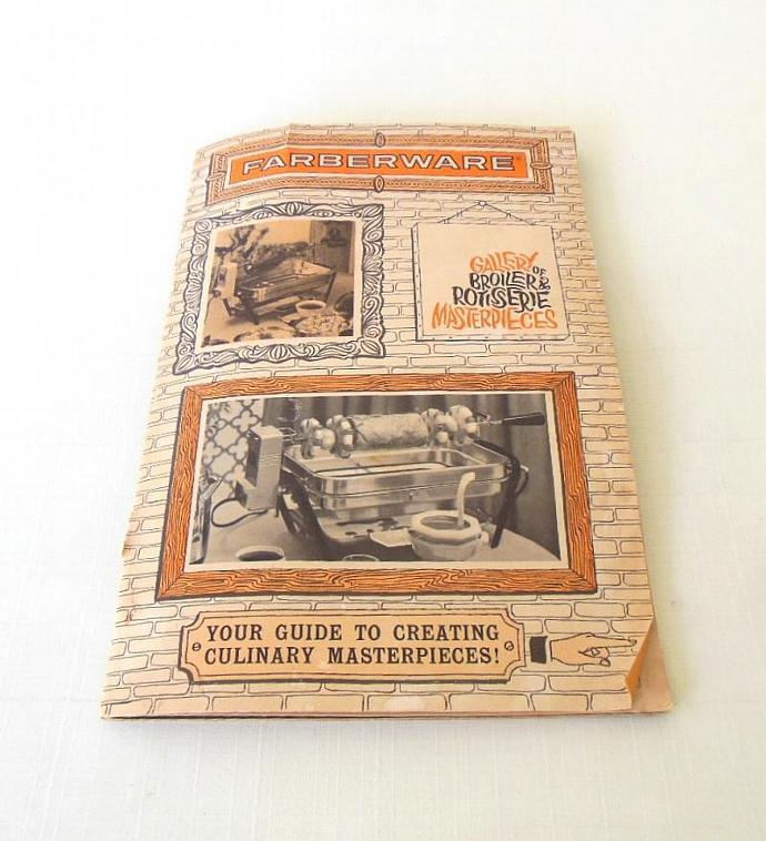 Farberware Open Hearth Rotisserie Grill Instruction Manual Recipe Booklet 455A