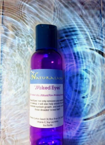 2oz 'Naked Eyes' Vegan Eye Makeup Remover, Eyelash Serum, Dark Circle, Wrinkle,