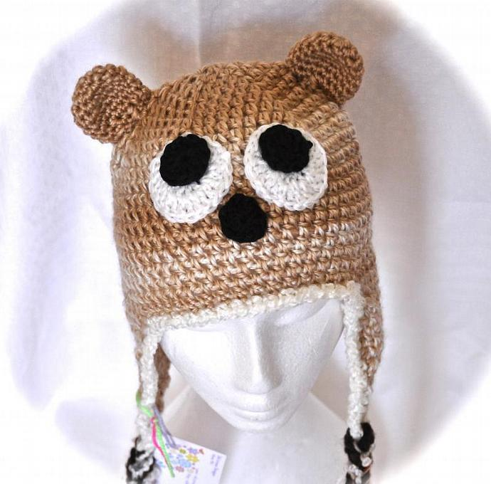 Bear Crochet Hat - Made to Order