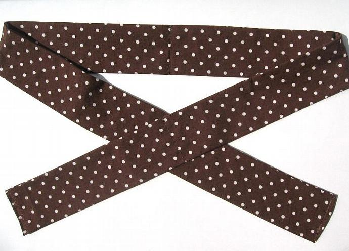 Chocolate with Vanilla Polka Dots Neck Cooler, Cool Tie, Cool Band