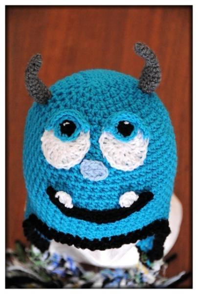Sulley Monsters University  Crochet Hat - Made to Order