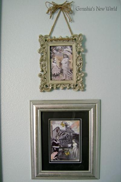 "The ""Black and White Series"" - Anthropomorphic Watercolor Collage Print Set"