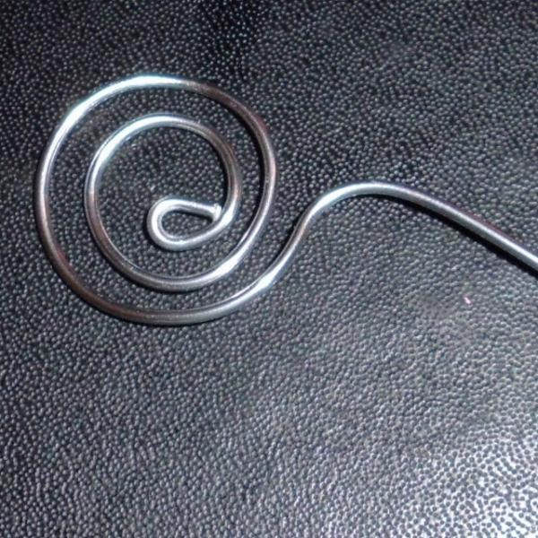 Silver Wire Swirl Card Holders and Table Number Place Card set of 24