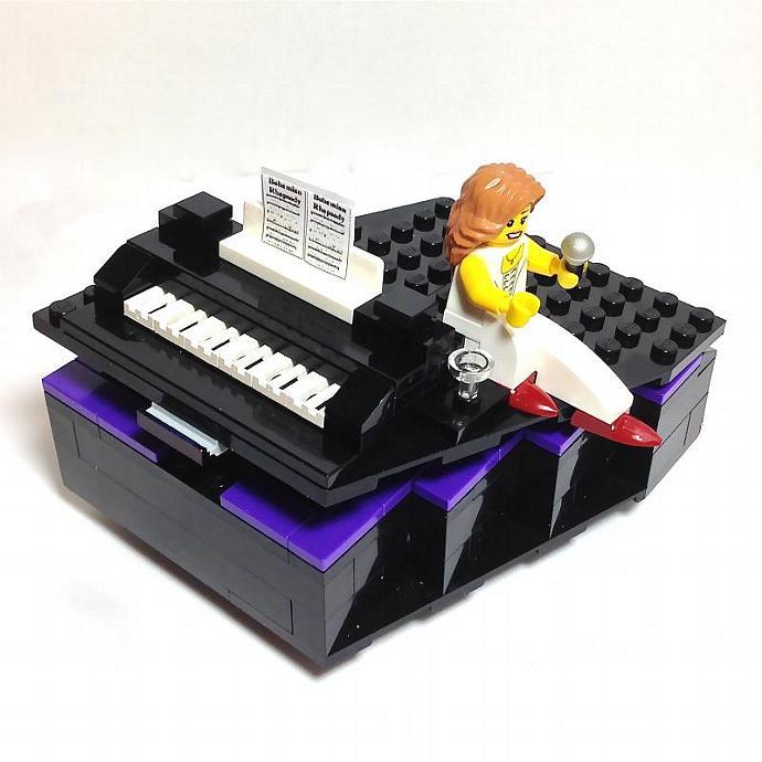 LEGO Piano JEWELRY BOX with Performer made w LEGO® Bricks