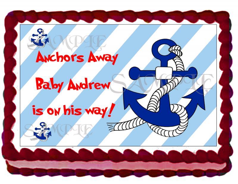 NAUTICAL BABY SHOWER SHEET CAKES baby shower nautical