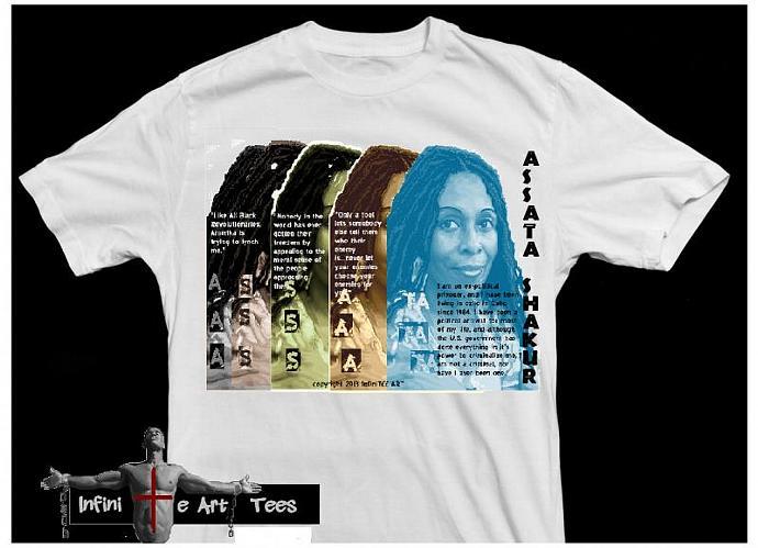 in her words assata shakur african american pride t shirt - American Pride T Shirt