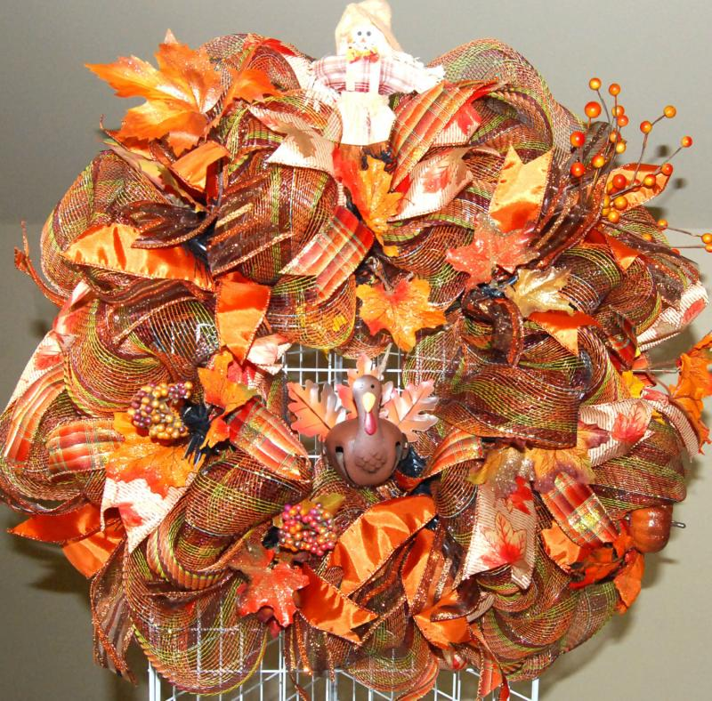Fall Thanksgiving Turkey Deco Mesh Kraftykreations4u