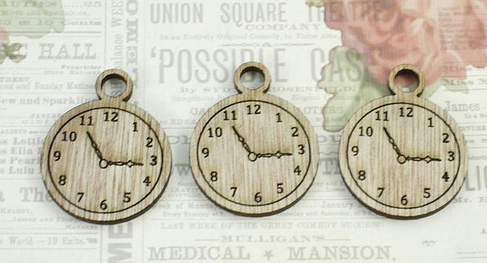 Wood pocket watches-3 pieces