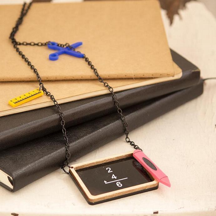Back to School Necklace,Back to School Jewelry,Lasercut Jewelry