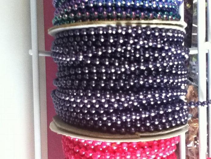 deep purple  4mm pearls 3 yards