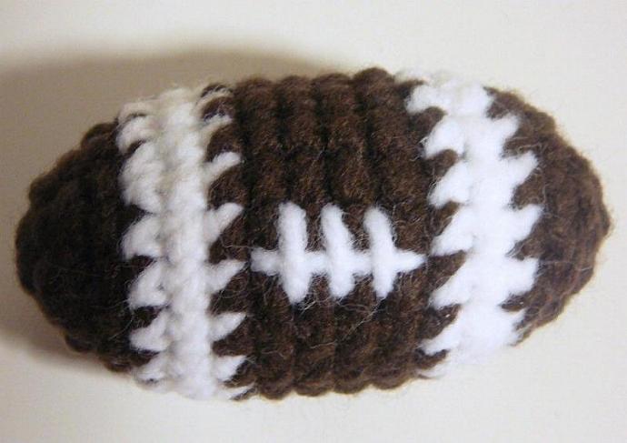 Amigurumi Football PDF Crochet Pattern by HGSDesigns on Zibbet