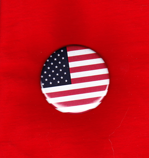 USA FLag button - Choice of Size