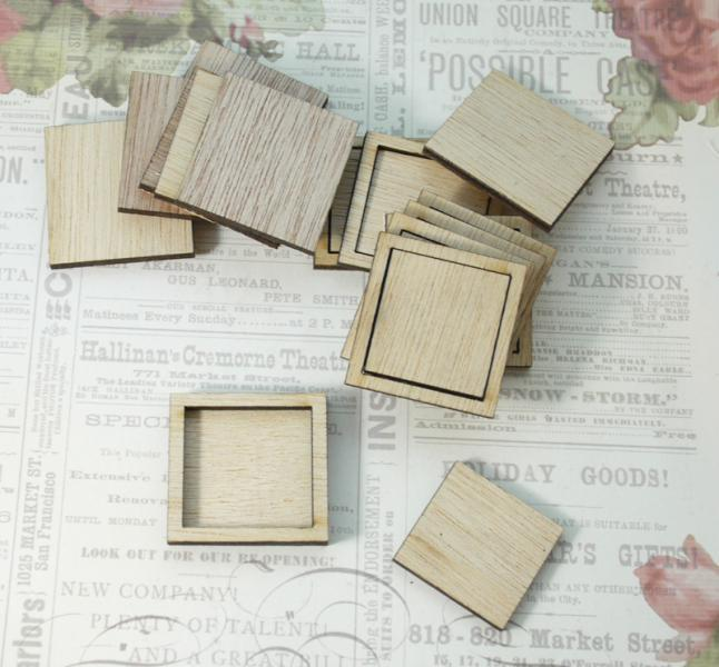 Wooden mini shadow boxes