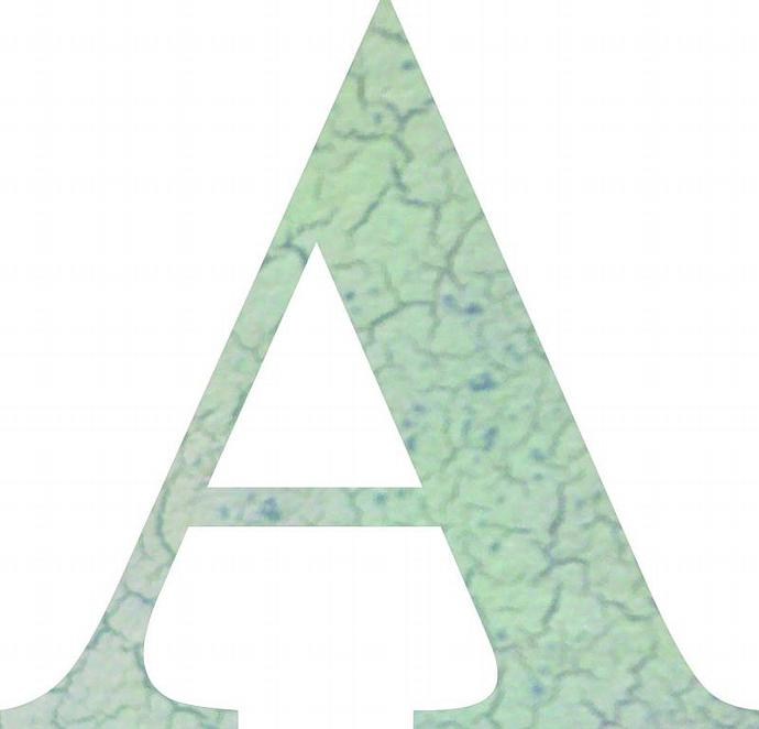 Letter a wooden cut out letter 2 feet tall dabbledown for 3 foot tall letters