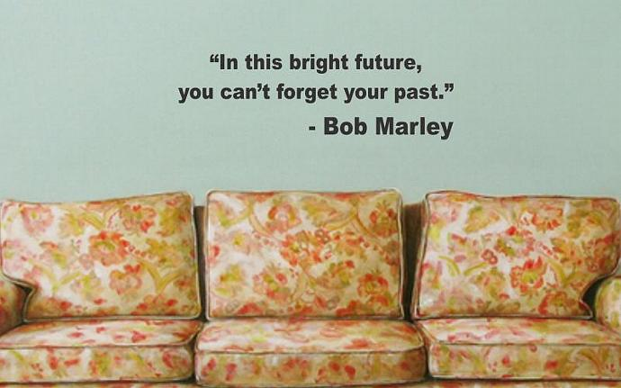 BOB MARLEY QUOTE decal sticker wall in this bright