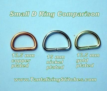 100 Antique Brass Unwelded D rings - 0.6 inch