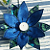 Handmade Fabric Flower Centrepiece Blue and Green