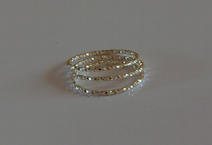 Sterling Silver stacking ring - Textured ring