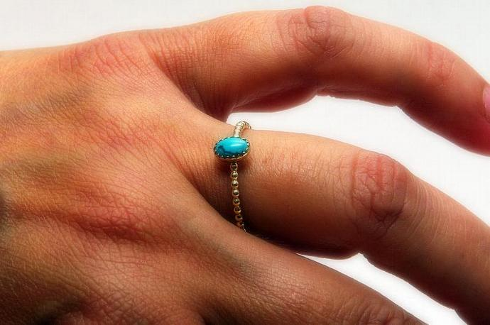 Turquoise ring December Birthstone Ring Stackable Ring Stacking Ring Gold Ring