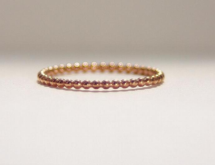 14k ROSE Gold Filled Stacking Ring, Rose Gold Fill Ring, Rose Gold First