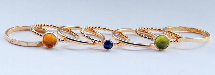 Blue Sapphire Engagement Ring, 14k Gold Filled September Birthstone Ring,