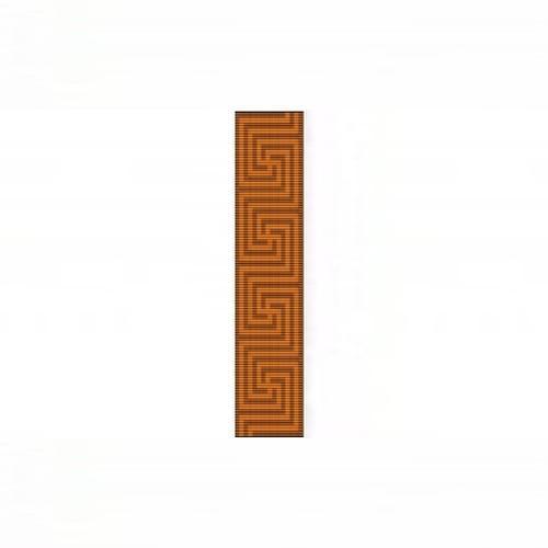 Loom Bead Pattern for Greek Cuff Bracelet