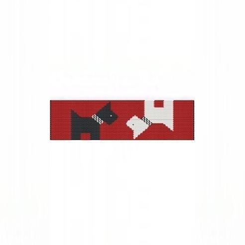1 Drop Even Peyote Bead Pattern for Scotties Cuff Bracelet