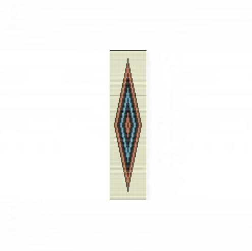 Loom Bead Pattern for Ne-Zhoni Diamond Cuff Bracelet