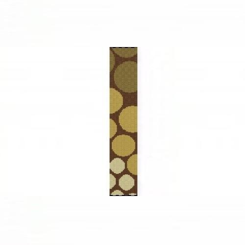 3 Drop Odd Peyote Bead Pattern for Progressive Gold Circles Thin Bracelet
