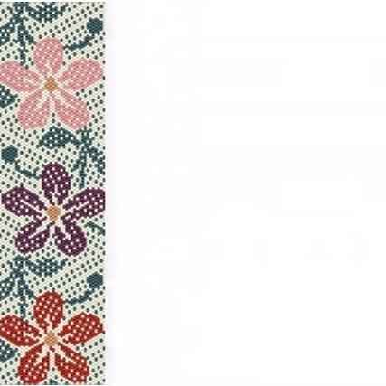 1 Drop Even Peyote Bead Pattern for Hawaiian Print Colors Cuff Bracelet
