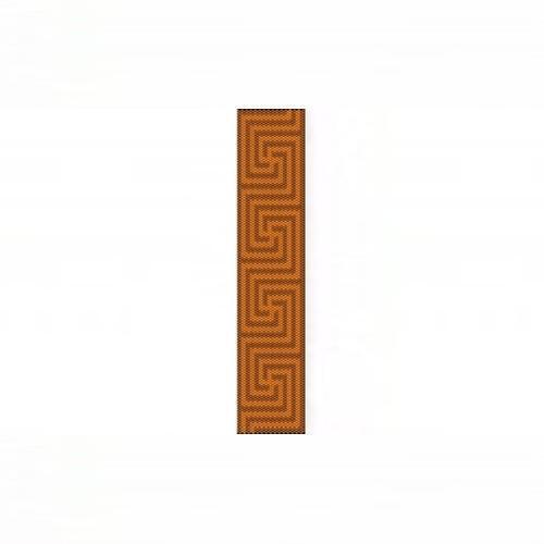 1 Drop Odd Peyote Bead Pattern for Greek Cuff Bracelet