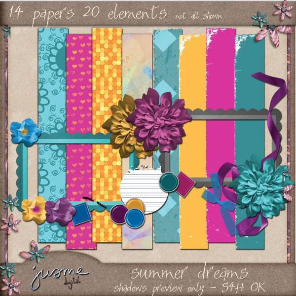 summer dreams digital scrapbooking kit