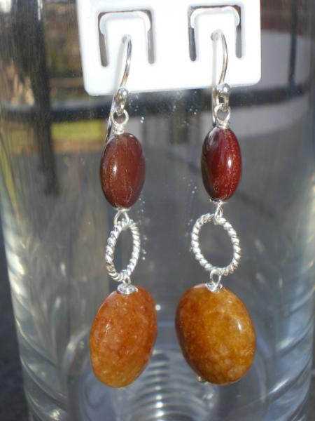 Mookiate/Adventurine earrings