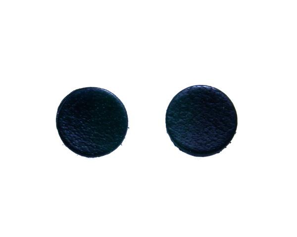 flat black earrings for men - photo #13