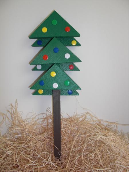 Plant Stakes - Wooden Christmas Tree