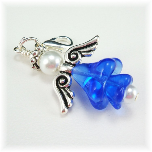 Blue and White Angel Charm