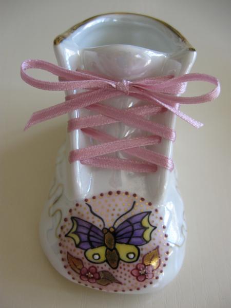 Porcelain Baby Bootie - Pink